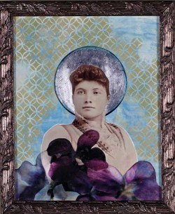 Madonna with Violets Jody Valentine Photographic Mixed Media