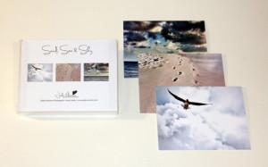 Sand, Sea & Sky card set, Jody Valentine Photographic Mixed Media