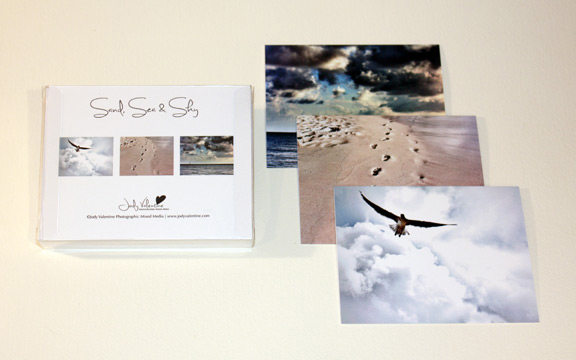 Sand, Sea & Sky card set, Jody Valentine Photographic Mixed Media