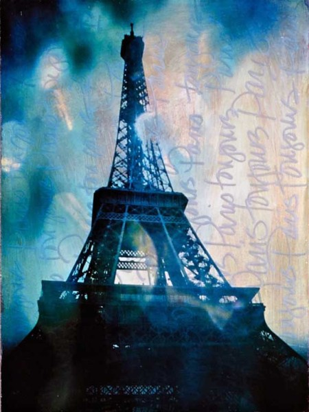 "Jody Valentine Photographic Mixed Media, ""Toujours Paris"""