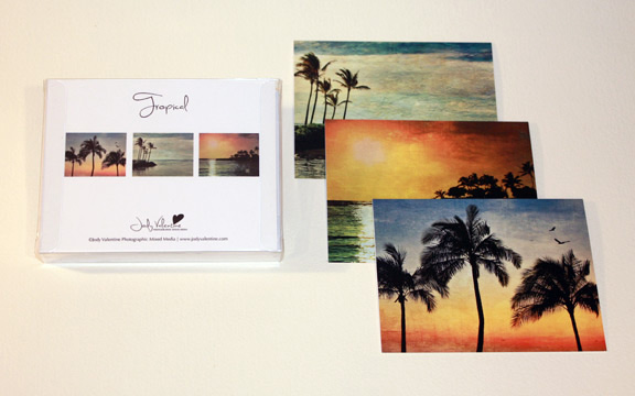 Tropical Card Set, Jody Valentine Photographic Mixed Media