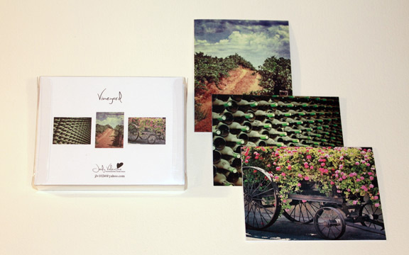 Vineyard Card Set, Jody Valentine Photographic Mixed Media