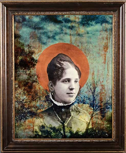 Jody Valentine Photographic Mixed Media Madonna of the Forest